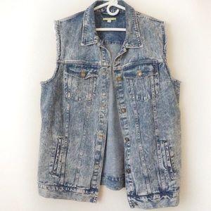 Gianni Bini Jean denim vest size medium blue